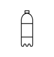 Bottle outline digital icon vector image vector image