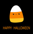 candy corn with face cute cartoon kawaii funny vector image