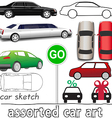Car symbols auto transportation set vector image vector image