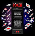 casino gambling poker background poster design vector image vector image