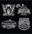 chopper set black white vector image vector image