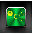 Cocos and Keeling Islands flag icon See also vector image