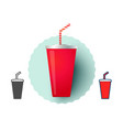 cold drink from fast food vector image