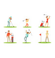 collection of golf players characters in different vector image vector image