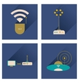 Concept of flat icons with long shadow Wi-Fi vector image vector image