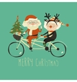Cool grandma with grandpa as santa claus and vector image vector image