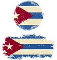 Cuban round and square grunge flags