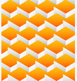 cubes seamlessly repeatable pattern 3d geometric vector image vector image