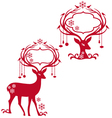 deer with blank frames vector image