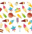 delicious ice creams pattern background vector image