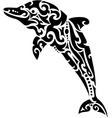 Dolphin tribal tattoo vector image vector image