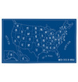 doodle blueprint map of north america vector image vector image
