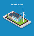 eco friendly modern smart house vector image