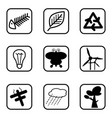 ecology icons and environment icons with white vector image vector image