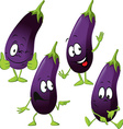 eggplant - funny cartoon vector image