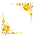 Elegant curves flower corners isolated vector image vector image