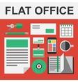 flat office set vector image