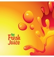 fresh juices and drops and splashes vector image vector image