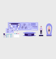 futuristic laboratory with modern science vector image vector image