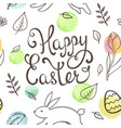 hand drawn doodle easter pattern vector image vector image