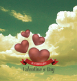 heart and clouds vector image vector image