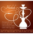 Hookah menu design vector image