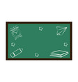 isolated chalkboard icon vector image