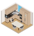 isometric kitchen interior vector image vector image