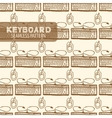 Keyboard seamless pattern vector image