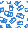 like comment follower seamless pattern background vector image vector image
