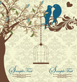 love birds sitting in a tree wedding invitation vector image vector image