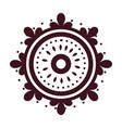 mandala decoration trendy isolated icon style vector image