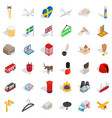 much money icons set isometric style vector image vector image