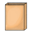paper bag in colored crayon silhouette vector image vector image
