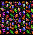 pattern with cute robots vector image