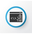 programming icon symbol premium quality isolated vector image