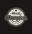 rafting champion emblem for t-shirt vector image