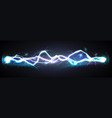 realistic lightning bolt powerful discharge vector image