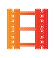 Reel of film sign Orange applique isolated vector image vector image