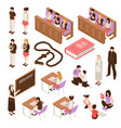 religious education isometric set vector image