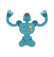 robot yoga cyborg yogi isolated robotic man vector image vector image