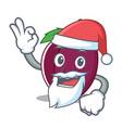 santa plum mascot cartoon style vector image vector image