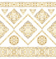 seamless ethnic patterns for border vector image