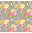 Seamless Floral Shabby Chic Background vector image vector image