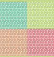 set colored fish scales seamless patterns vector image vector image
