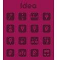 Set of idea simple icons vector image vector image