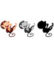 set of laughing monkey character vector image
