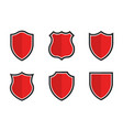 set shields in different shapes conceptual vector image