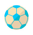 soccer flat icon vector image vector image