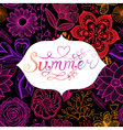 Summer watercolor lettering Hand drawn watercolor vector image